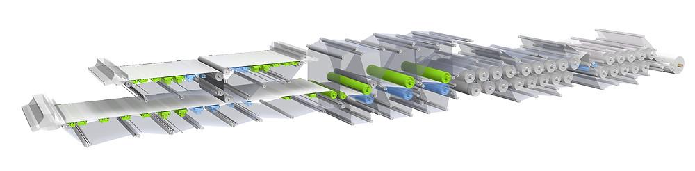Abbildung einer smarten Papiermaschine