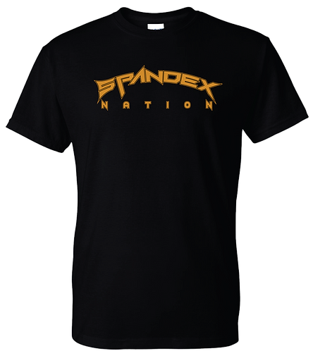 Spandex Nation T-Shirt, Metal Band Shirt, 80's Hair Metal, Rock Tee, Spandex Nation Orange Logo Shirt