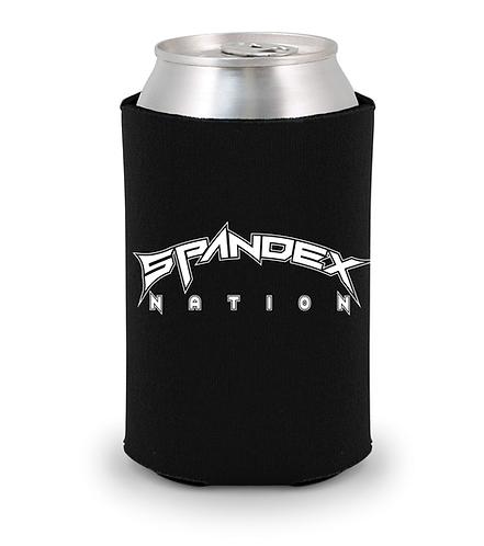 Spandex Nation Koozie, Rock Koozie, 80's Hair Metal, Rock Band Koozie, Spandex Nation Beer Sleeve