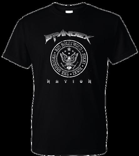 Spandex Nation T-Shirt, Metal Shirt, 80's Hair Metal, Rock Shirt, Spandex Nation Seal Shirt