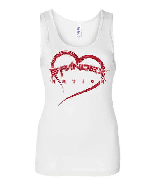 Spandex Nation Tank Top, Metal Shirt, 80's Hair Metal, Rock Shirt, Lip Stick Tank Top
