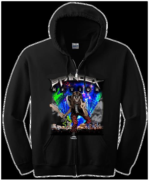 Spandex Nation Hoodie Zip, Metal Shirt, 80's Hair Metal, Rock Hoodie, J Design Hoodie