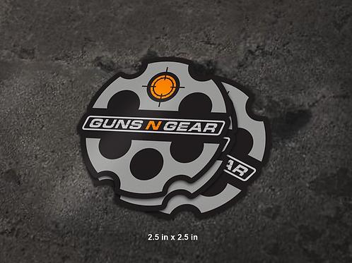 Guns N Gear Decal - Logo 2.5 in x 2.5 in (100 count)