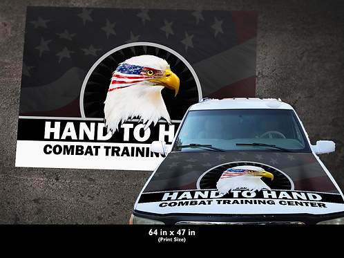 "H2HCTC Hood Wrap ""Smokey Patriotic Logo"""