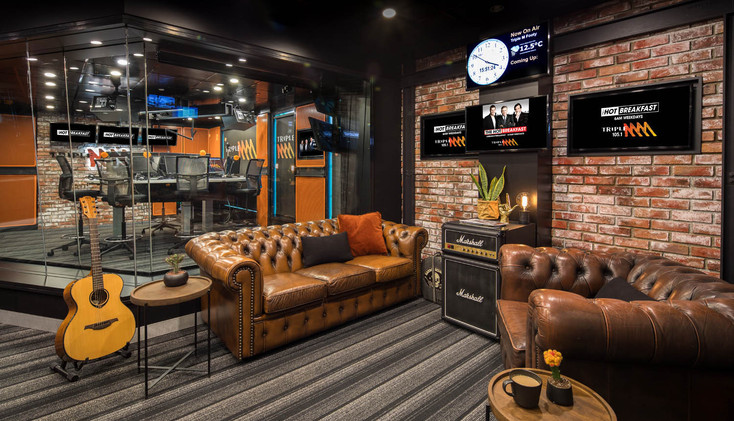 TRIPLE M BROADCASTING STUDIO - Melbourne  design, custom build, install & style  MAY 2017