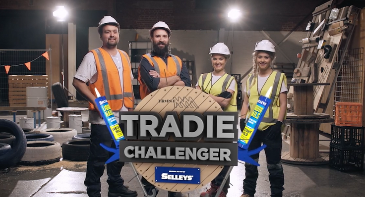 TRIPLE M's  'TRADIE CHALLENGER'   brought to you by SELLEYS    (Promo)   press play