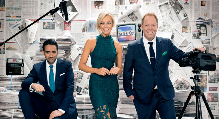 The Project - Carrie Bickmore, Waleed Aly & Peter Helliar  Art Direction & Set Styling  2017