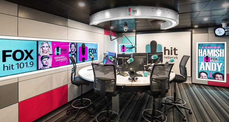 FOX FM BROADCASTING STUDIOS - Melbourne  design, custom build, install & style  OCT 2016