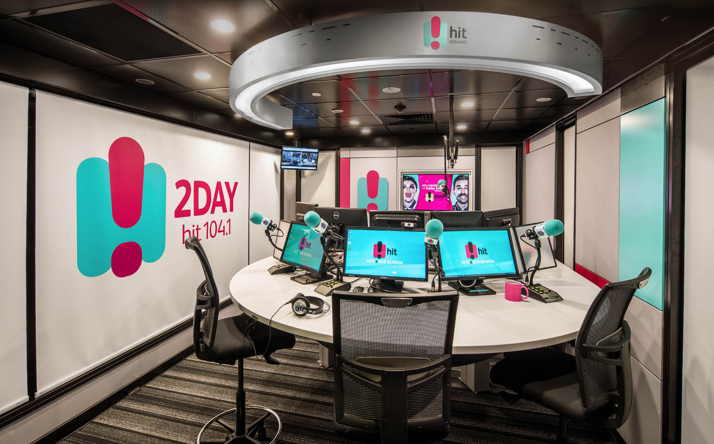2DAY FM BROADCASTING STUDIO  design, custom build, install & styling  2017
