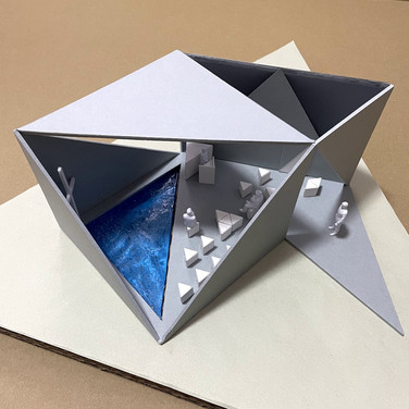 三角がつくる礼拝堂