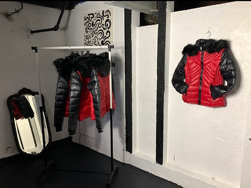 You Got Victory Color Block Puffer Jacket