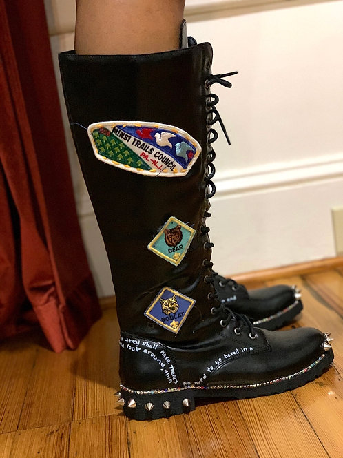 Women's BoyScout Patch Combat Boots