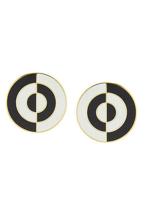 Circle Design Post Earrings