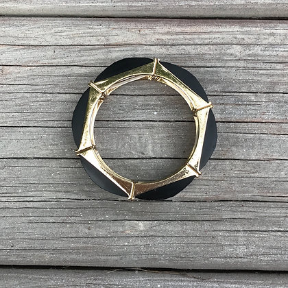 Black and Gold Strech Bracelet