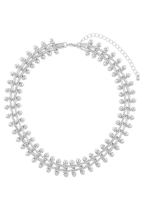 Silver Link Choker Necklace