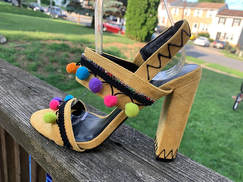 Tropical Dreams Strappy Heeled Sandals