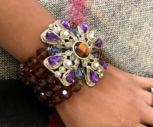 Bloom Where You Are Beaded Bracelet