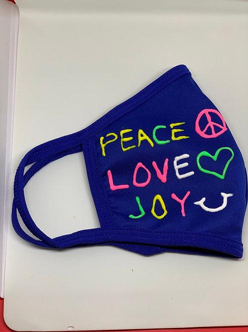 Peace Love Joy  Mask