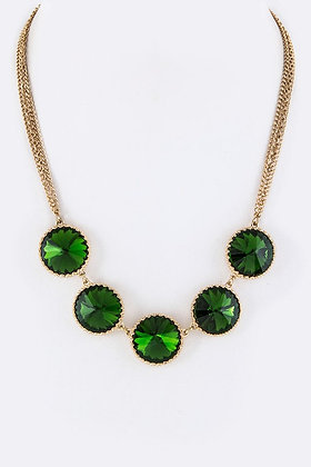 Round Crystal Necklace