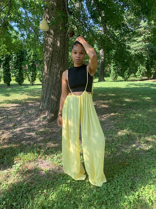 Livin in the Sunshine Flowy Sheer Pants