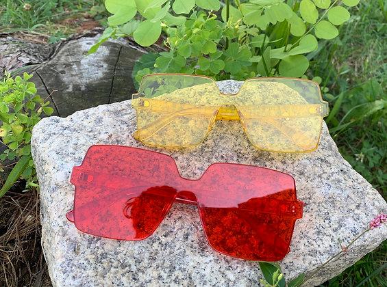 Mono block Rimless Sunglasses