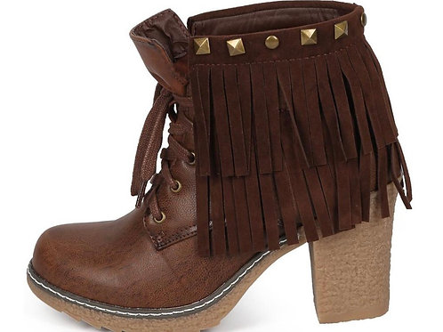 Brown Lace-Up Rugged Boots