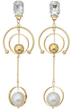Tiered Drop Faux Pearl Earrings