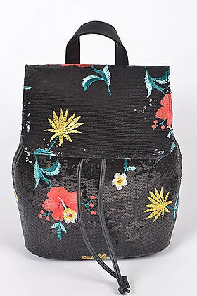 Still A Blooming Flower Sequence Backpack