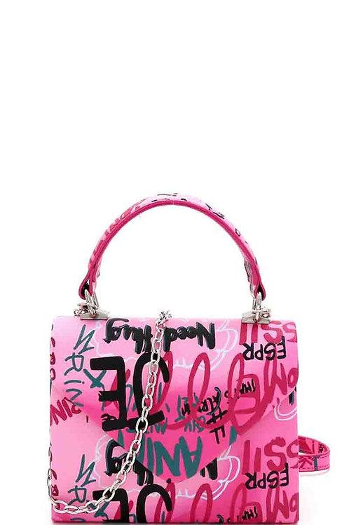 Pretty in Pink Graffiti Handbag
