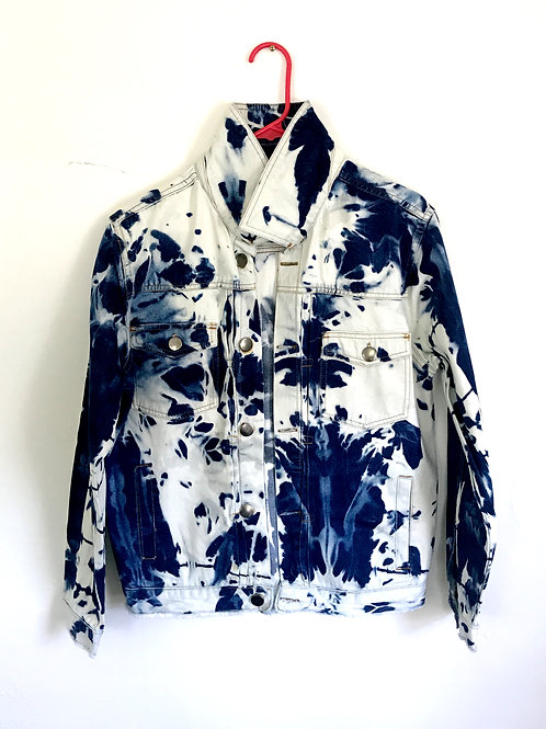 Hand Bleached Men's Denim  Jacket