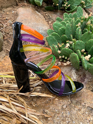 Yes, It's Possible Colorblocked Jelly Heels