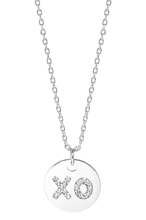 """XO"" Hugs and Kisses Charmed Necklace"