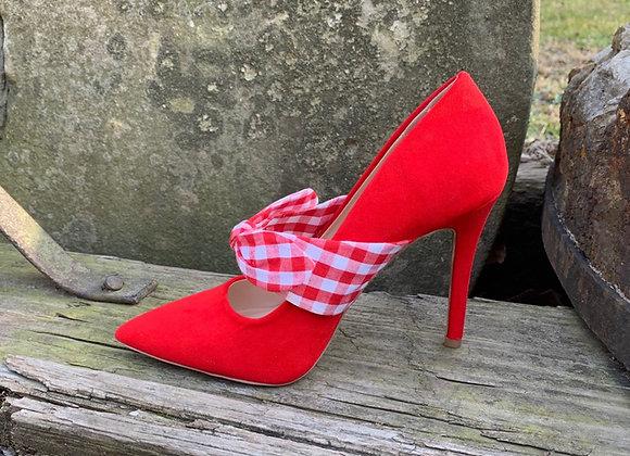 Red Poppins Pump