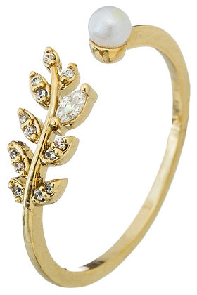 Plant Studded Ring