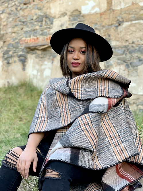 Wrapped in Warm Embrace Poncho Style Wrap