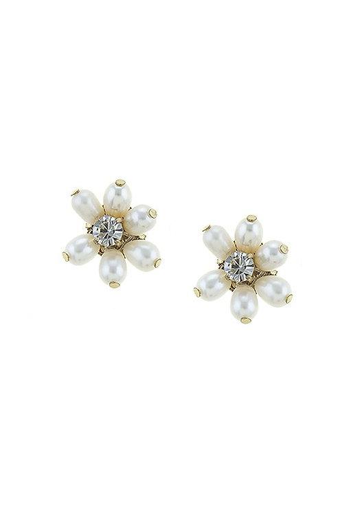 Pearl Floral Earrings
