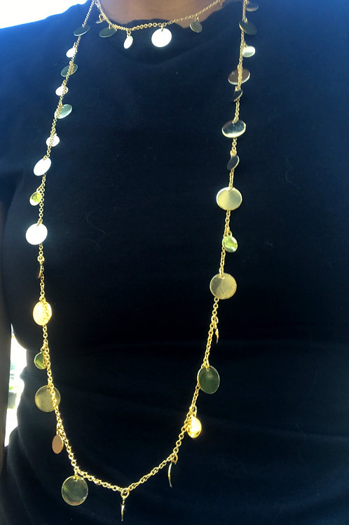 Two Layer Gold Dainty Necklace