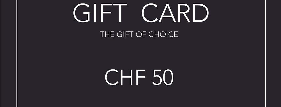 Gift Card 50 CHF