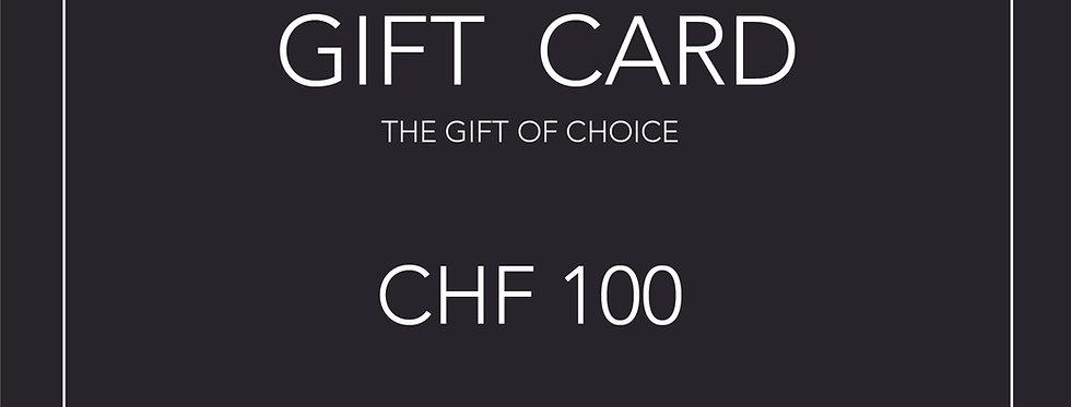 GIFT CARD 100 CHF