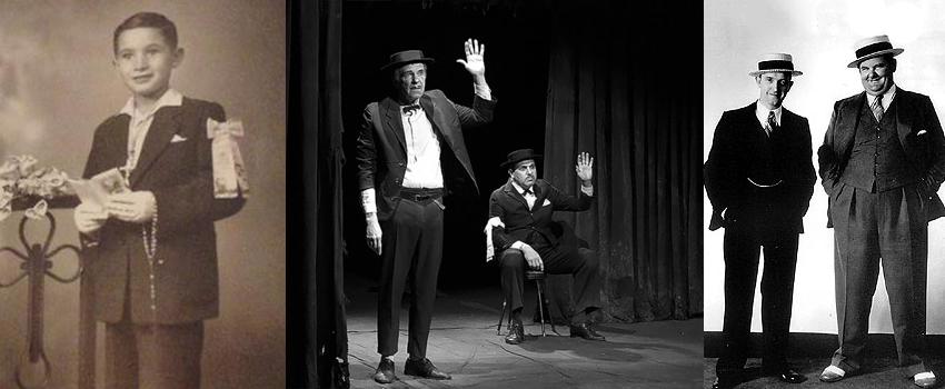 Nene tomando la comunición circa 1950 // los actores // gordo y el flaco
