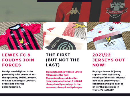 BREAKING NEWS: We will be teaming up with iconic Lewes FC for the 2021/22 season