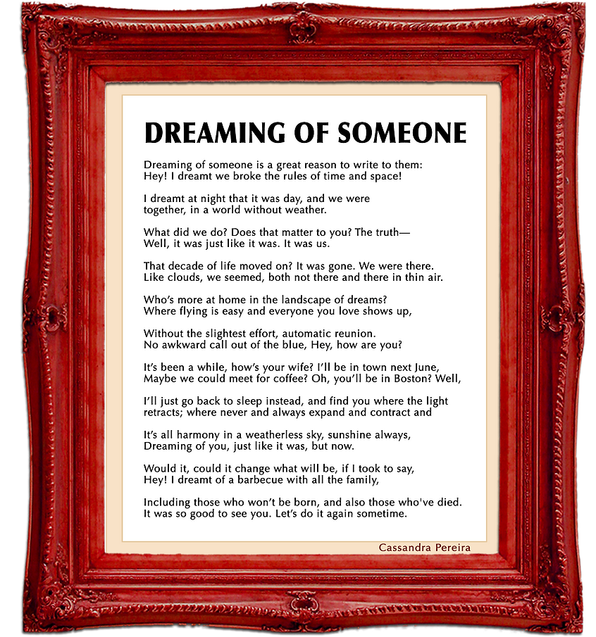 dreaming of someone