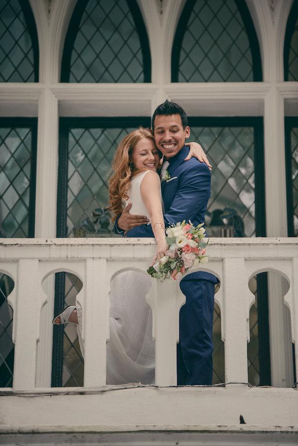 Wedding Day Balcony Shot