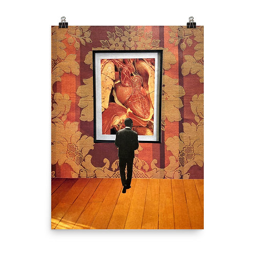 """Poster Print: """"Unavoidable Heart"""""""