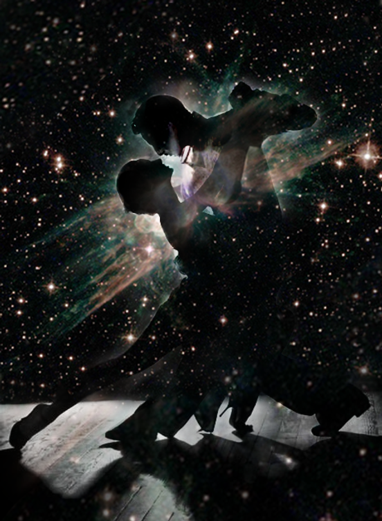 Cosmic Tango Photoshop Digital Collage.p