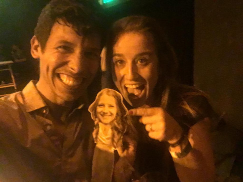 Ray with mini-Cassandra (personalized lookalike doll)