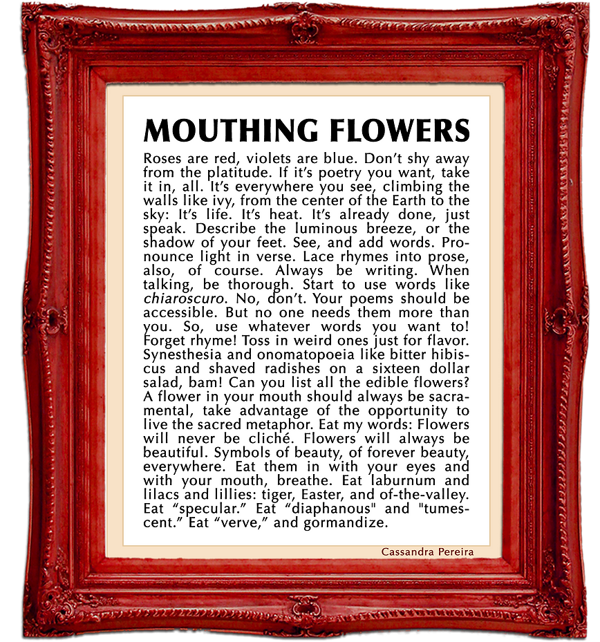 mouthing flowers