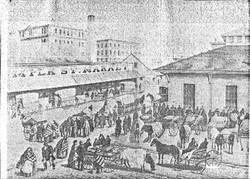 Market on Milk Street pre 1860s