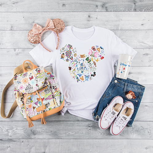 Best Day Ever Watercolor Mickey Short Sleeve Tee