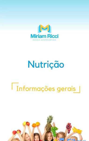 Informações sobre Nutrição